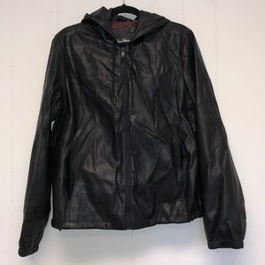 Sam Edelman Women Black Leather Jacket Size L